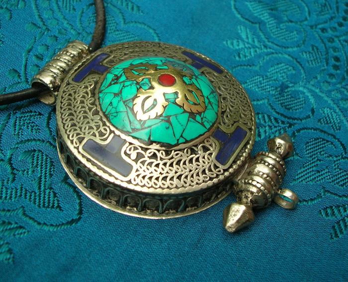 Tolles ALTES BUDDHA-GANESHA AMULETT aus NEPAL